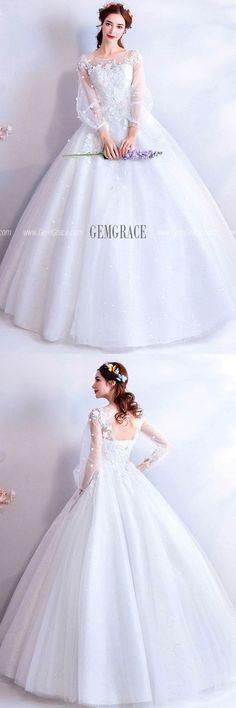 7e75e550d69 Beautiful ballgown wedding dress with long sleeves Доступные Свадебные  Платья