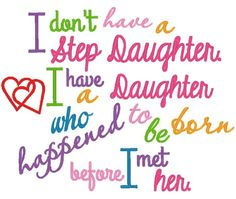 Stepdaughter - 4 Sizes! | Products | SWAK Embroidery