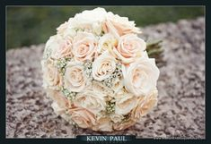 A Romantic Champagne and Ivory Bridal Bouquet - The French Bouquet - Kevin Paul Photography