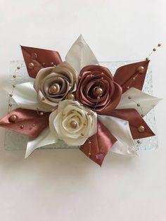 Diy Ribbon Flowers, Stud Earrings, Hair Bows, Bias Tape, Roses, Amigurumi, Flowers, Stud Earring, Earring Studs