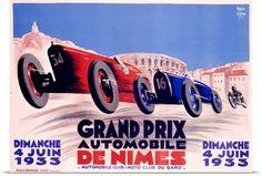 Poster Print Wall Art Print entitled Grand Prix, de Nimes, 1932,Vintage Poster, None