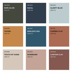 Colour Trends for 2020 What colours will we be seeing next year? See Sherwin Williams predicted colour trends for Plus sneak peek at the moodboard for S/Y Lazy Kingfisher. Interior Paint Colors, Paint Colors For Home, House Colors, Interior Colour Schemes, Modern Color Schemes, Sand Color Paint, Paint Colours For Bedrooms, Terracotta Paint Color, Interior Paint Palettes