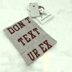 Don't Text Ur Ex Wildfox DON'T TEXT UR EX 90% Cotton, 10% Rayon Wildfox Tops Tank Tops