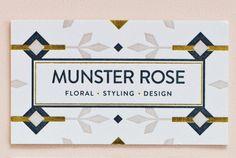 MaeMae Paperie: Munster Rose Stationery / on Design Work Life Bussiness Card, Web Design, Types Of Lettering, Professional Logo Design, Photoshop, Identity Design, Brand Identity, Stationery Design, Logo Design Inspiration