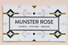 MaeMae Paperie: Munster Rose Stationery // #branding #businesscard #graphicdesign