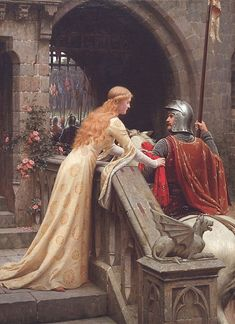"""God Speed!"" ~ Edmund Blair Leighton"