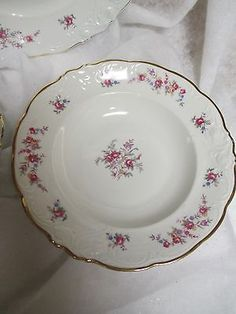 Walbrzych-Soup-Bowl-Cup-Saucer-Dinner-Plate-Garlandia-Made-in-Poland & 54851 SET 6 ANTIQUE 20s POLISH WALBRZYCH 10.5