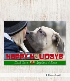 Christmas Photo Card DOG Manu0027s Best Friend By Customaed On Etsy