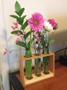 Chemistry set flower vase that my father helped me make!