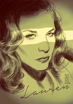 Gilles Vranckx: Lauren Bacall