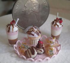 Dollhouse Miniature One Inch Scale Shakes and Snacks by CSpykersMiniatures