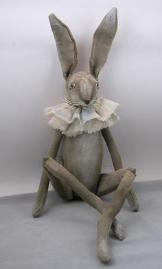 Hey, I found this really awesome Etsy listing at https://www.etsy.com/listing/226614872/folk-art-rabbit-doll-painted-cloth-soft