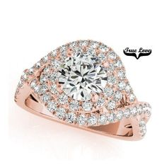 Buy online, view images and see past prices for 2 ctw VS/SI Diamond Halo Ring Yellow Gold - - Invaluable is the world's largest marketplace for art, antiques, and collectibles. Round Halo Engagement Rings, Engagement Ring Styles, Halo Rings, Wedding Rings, Wedding Band, Rose Gold, Jewellery, Jewelry Rings, Silver Jewelry