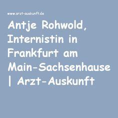 Antje Rohwold, Internistin in Frankfurt am Main-Sachsenhausen | Arzt-Auskunft