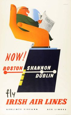 1900s H.McNeill Limited North of Ireland Art Travel Advertisement Poster Print