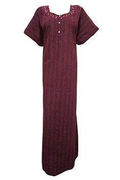 Women's Caftan Maroon Nightgown Kaftan Cotton HouseDress ... https://www.amazon.com/dp/B01GV0KW7S/ref=cm_sw_r_pi_dp_HHYwxbR545KH5