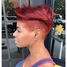 35 Stunning Sew In Hairstyles Short Sassy Hair, Short Hair Cuts, Pixie Cuts, Color Fantasia, Curly Hair Styles, Natural Hair Styles, Pelo Afro, Relaxed Hair, Black Girls Hairstyles