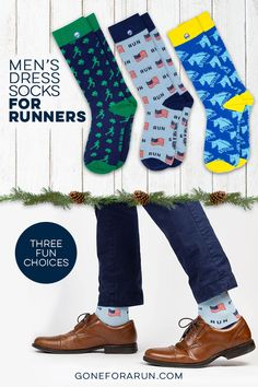 Our men's dress socks have a fun and unique running design are great for any runner to wear for a more dressy occasion to show off that running pride. Christmas Themes, Christmas Holidays, Run Runner, Running Gifts, Gifts For Runners, Dress Socks, Great Gifts, Fun, How To Wear