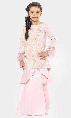 Aravali Brocade Kurung Set in Pink Fesyen Kanak Kanak 112bd20e9a