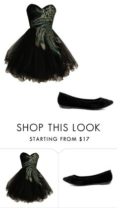 """""""Peacock formal"""" by lista-sage ❤ liked on Polyvore featuring Breckelle's"""