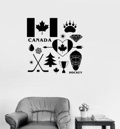 T & P mandala Wall Stickers Unique, Canadian Symbols, Vinyl Decals, Wall Decals, Canada Hockey, Mandala Art, Bumper Stickers, At Least, Family Business