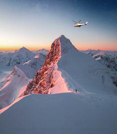 Helicopter ride switzetland. jungfraujoch region.