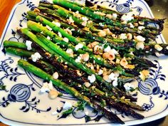 Grilled Asparagus Salad with Goats Cheese |