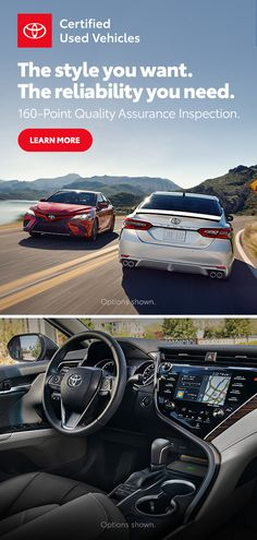 Certified Used Toyota Vehicles Small Luxury Cars, Best Luxury Cars, Luxury Suv, Toyota Cars, Toyota Usa, Used Toyota, Exotic Sports Cars, Car Goals, Custom Cars