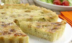 Receita de Quiche de arroz e queijo - Torta salgada e quiche - Dificuldade: Médio - Calorias: 253 por porção