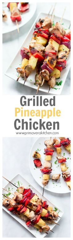 Grilled Pineapple Chicken - This Grilled Pineapple Chicken is a perfect recipe for your bbq parties. It is flavourful, juicy and very moist.