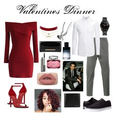 """""""Valentines Day"""" by shababy0403 on Polyvore featuring Chicwish, Yves Saint Laurent, Lot78, Joseph, Lakai, Rado, Charlotte Russe, Burberry, Christian Dior and Jimmy Choo"""