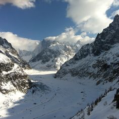Montenvers glacier, Chamonix, France...hiked down and went through the ice house...want to go back