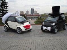 Smart Car Wedding Photo