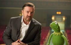 Kermit and Ricky Gervais in a new muppet movie coming in 2014