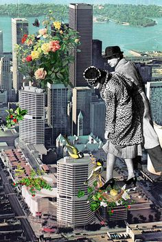 Game of Life Evt brug af collage til 'universe board' gammelt, nyt, by & silhuet Jungle City, por Eugenia Loli. Psychedelic Art, Surreal Collage, Surreal Art, Photomontage, Trucage Photo, Eugenia Loli, Collage Artists, City Art, Altered Art