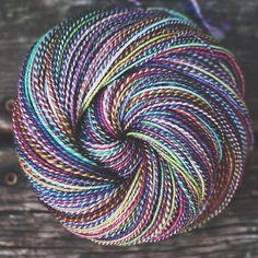 #nestfiber 'Pinwheel' #spinshoppe #handspun #spinnersofinstagram