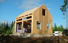 SIP SIPs over timber frame post and beam
