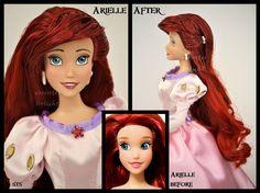 ooak repainted ariel doll. by verirrtesIrrlicht on DeviantArt