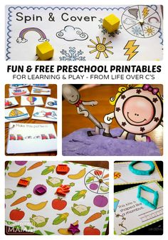 Fun and Free Preschool Printables - From Life Over C's at B-Inspired Mama