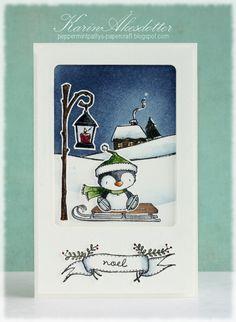 Stacey Yacula Studio - Walter (skating penguin) - purpleoniondesigns