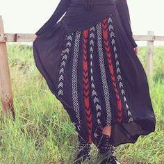 Embroidered black chiffon A-line Boho long skirt Tie Dye Skirt, Chiffon, Boho, Skirts, Black, Fashion, Silk Fabric, Moda, Skirt