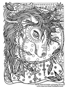 Zentangle Coloring Book pages colouring adult detailed advanced printable Kleuren voor volwassenen coloriage pour adulte anti-stress kleurplaat voor volwassenen Line Art Black and White https://www.etsy.com/shop/ChubbyMermaid