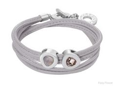 Sence vienna bracelet grey leather & worn silver