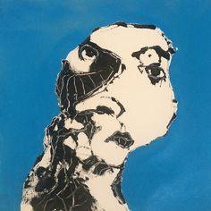 """Face XII"". 25x25 cm. Copenhagen 2015."