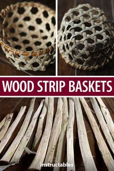 Harvest bark and wood from downed trees to weave into baskets. Wood Projects, Craft Projects, Wood Crafts, Diy Crafts, Survival Food, Survival Gear, Pine Needle Baskets, Art Lessons Elementary, Woodworking Wood