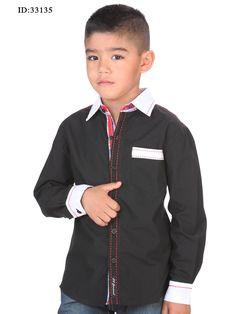 d90fbf9e206f3a5 33135 Camisa Casual Manga Larga De Niño 'El General', 65% Polyester 35