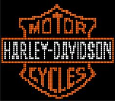 Harley Davidson Pillow - P3 via Loopaghans Custom Crochet. Click on the image to see more!