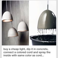 DIY concrete lamps