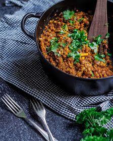 helpot kasvisruoat - linssipata - nuts for wellness Paella, Curry, Food Porn, Ethnic Recipes, Koti, Curries, Treats