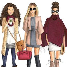 Outfit ideas from Holly Nichols Fashion Artwork, Fashion Design Drawings, Fashion Sketches, Fashion Illustrations, Best Friend Drawings, Girly Drawings, Art And Illustration, Poster Graphics, Art Hipster